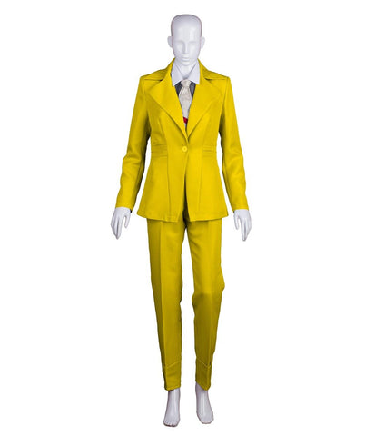 Woman's Deluxe Bowie Party Suit Costume, Yellow HC-394