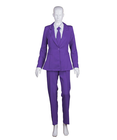 Women's Deluxe Bowie Party Suit Costume, Purple Prince HC-408
