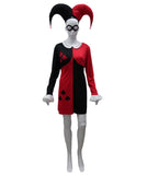Adult Women's Costume for Cosplay Harley Quinn Clubs Poker Dress  HC-487
