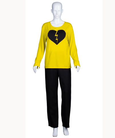 Adult Women's My Heart Is Broken Yellow Long Sleeve HC-526