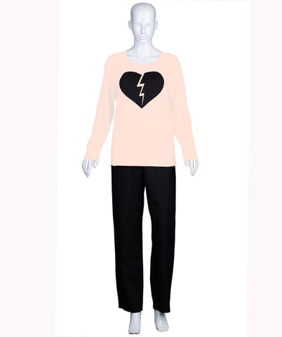 Adult Women's My Heart Is Broken Nude Long Sleeve  HC-537