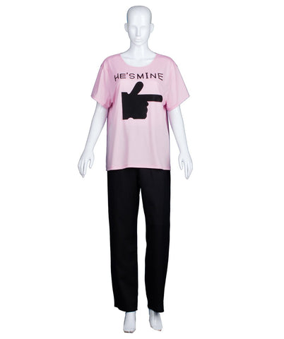Adult Women's Valentine's Day Matching Couple He's Mine Lt. Pink T-Shirt HC-542