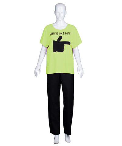 Adult Women's Valentine's Day Matching Couple He's Mine Lime T-Shirt HC-546