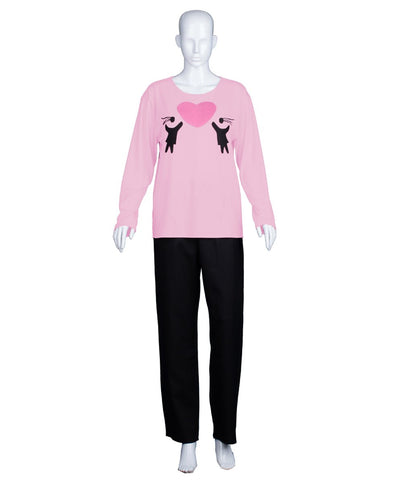Adult Women's Valentine's Day Falling In Love Pink Long Sleeve HC-555