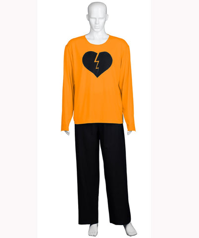 Adult Men's My Heart Is Broken Orange Long Sleeve  HC-563