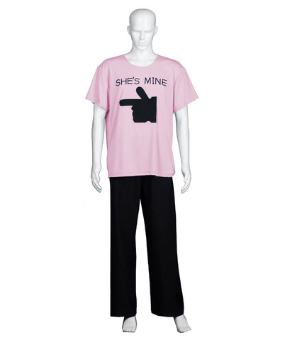Adult Men's Valentine's Day Matching Couple She's Mine Lt. Pink T-Shirt HC-578
