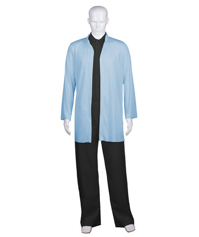 Adult Men's Chinese Traditional Martial Arts Kung Fu Lt Blue Uniform HC-682