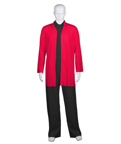 Adult Men's Chinese Traditional Martial Arts Kung Fu Red Uniform HC-685