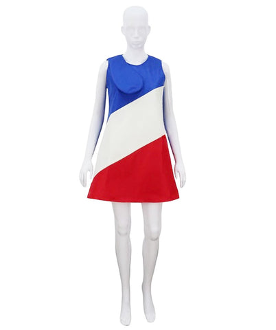 Adult Women's French Flag Trolls Dress Costume HC-711