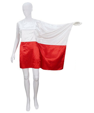 Adult Woman 2018 World Cup Poland Flag Dress Costume HC-910