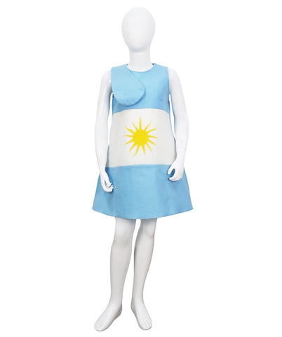 Child Girl 2018 World Cup Argentina Flag Troll Dress Costume HC-931