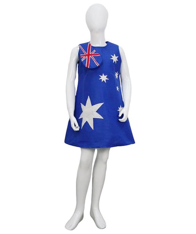 Child Girl 2018 World Cup Australia Flag Troll Dress Costume HC-932