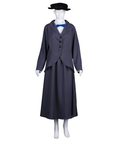 Adult Woman's Costume for Cosplay Englsh Nanny Mary Poppins HC-967