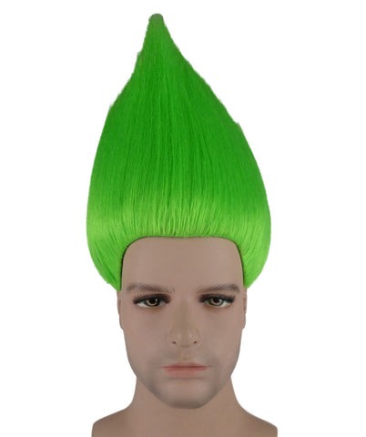 NEON GREEN TROLL WIG ADULT HM-076