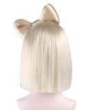 Blonde Bow Adults Wig Lady Gaga Style | HW-030