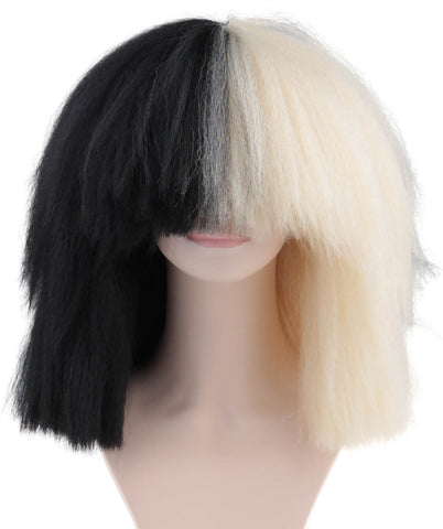 SIA Blonde and Black Wig ('Sia style Wig') ADULT SIZE | HW-175