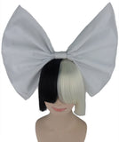 SIA STYLE SHORT FRINGE WITH WHITE BOW ADULT WIG HW-200