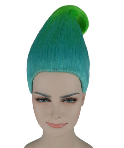 BLUE / GREEN TROLLS KIDS WIG HW-280