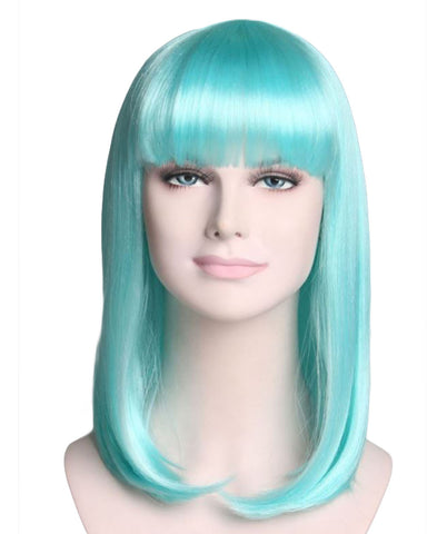 AQUA BLUE SHORT BOB ADULT WIG