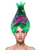 Greeen Christmas Tree Troll Wig HW-2663