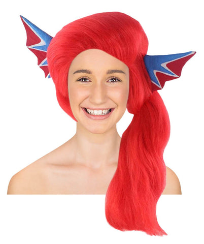 Wig for Cosplay Undertale Undyne with Ears HW-2701