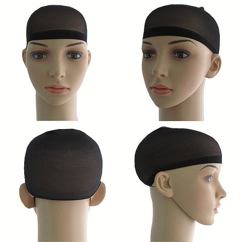 WIG CAP 2 X BLACK, ONE SIZE FITS ALL