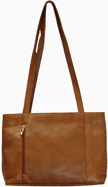Anna soft Leather Zip shoulder handbag