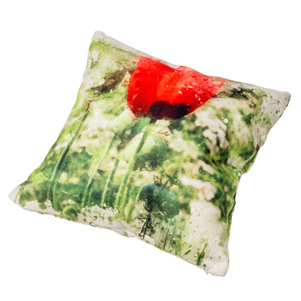Cushion & Cushion Cover Single Poppy
