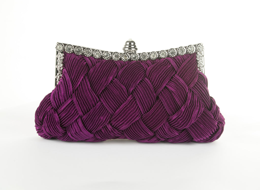 Purple Evening Clutch Bag
