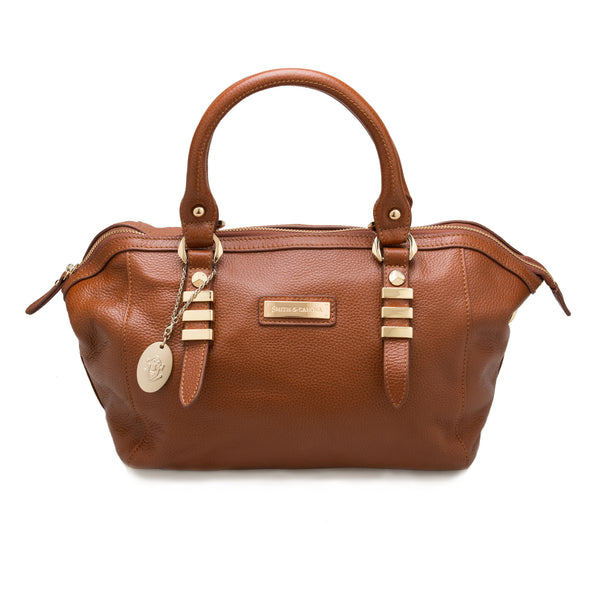 Smith & Canova ViaFerrata brown grain effect leather bag