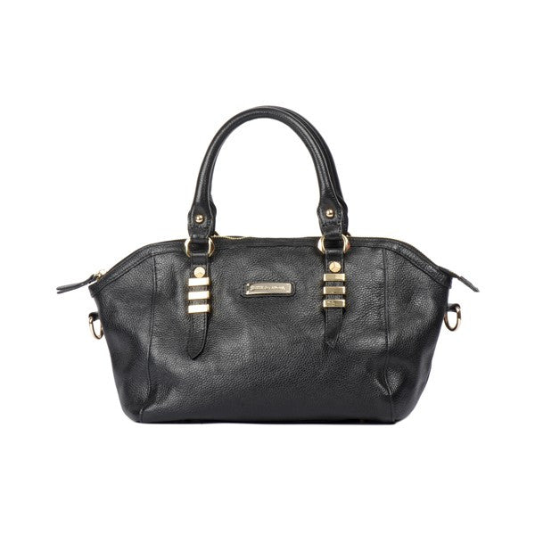 Smith & Canova ViaFerrata black grain effect leather bag