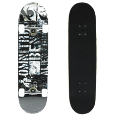 Senmi 7 Plies Maple Double Kick Concave Deck Cool alphabet Grip Tape Skateboard for Primary Intermediate + Free Skateboard Bag