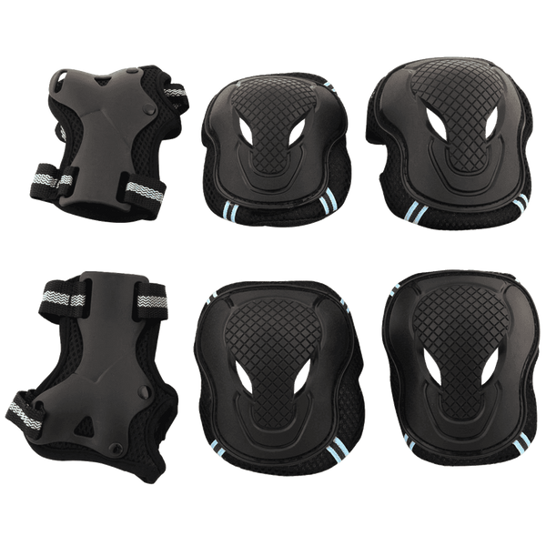 Tera Skateboard Roller Blading Elbow Knee Wrist Protective Safety Gear Pad Guard 6pcs Set Size S M L 2 Color