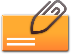 attachment icon orange