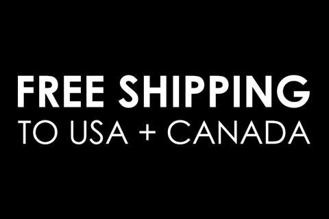free shipping to USA and Canada black banner