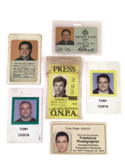 press passes of Tony Costa