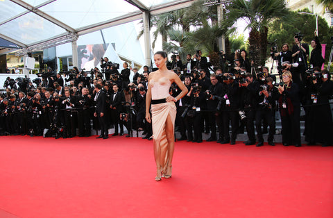 celebrity on the red carpet at Cannes