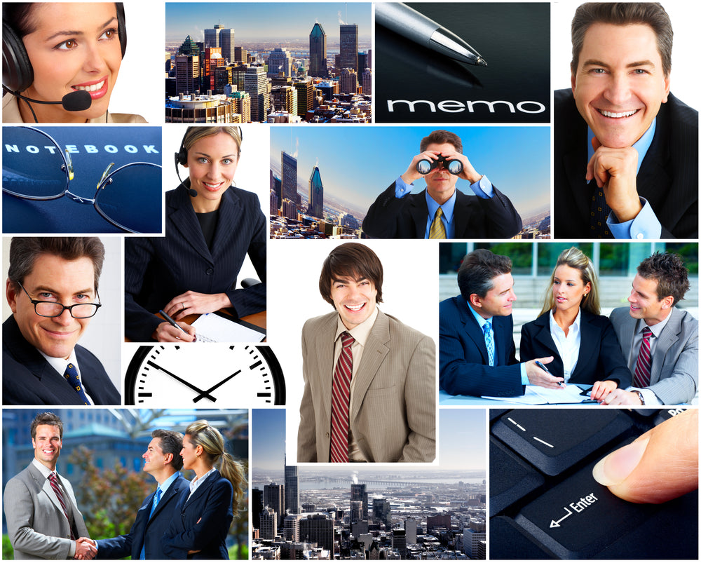 business stock photos collage