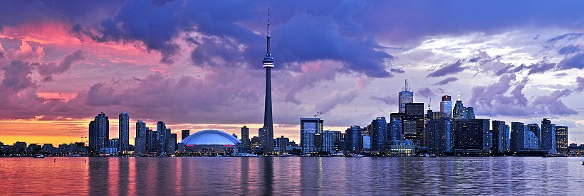 Toronto Ontario Canada skyline at sunset