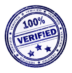 100% verified seal icon blue