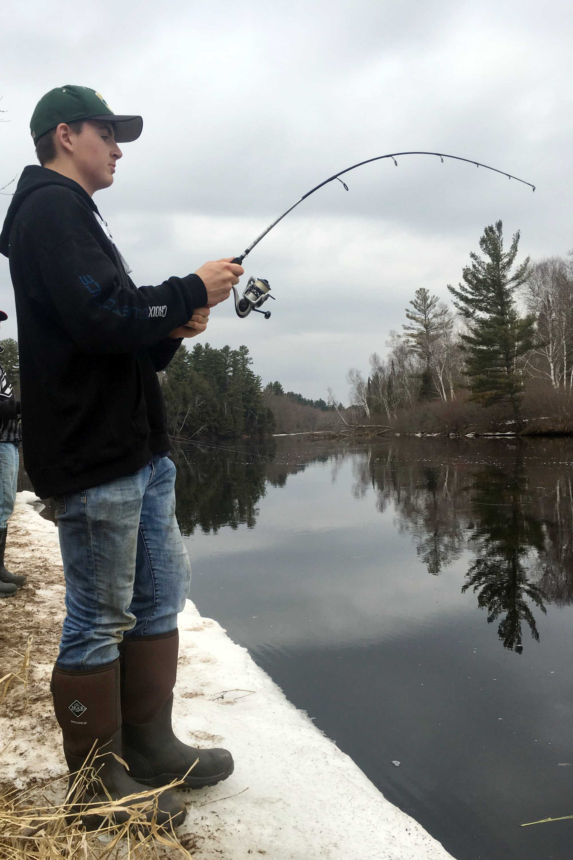 Stream Fishing with RG-42 Fishing Pole