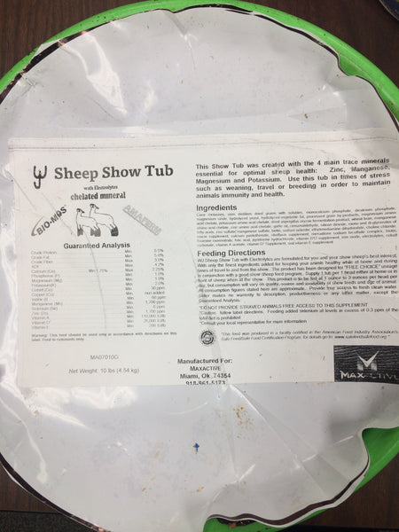Copy of Copy of SHEEP SHOW TUB - 10 lbs