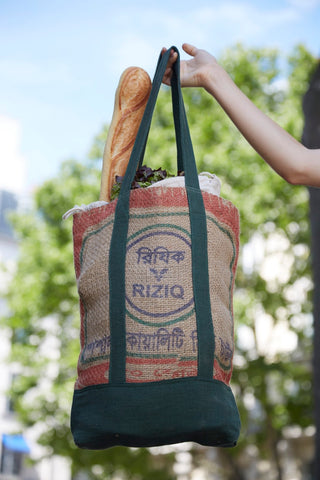 Upcycled Rice Sack Tote Bag