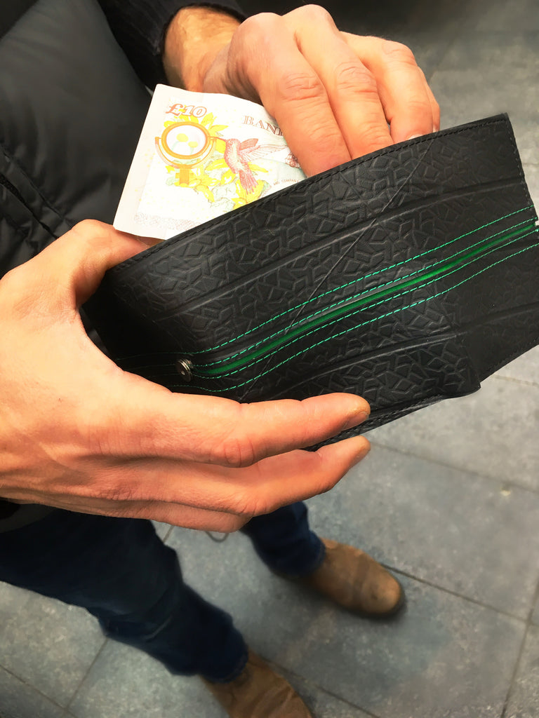 Upcycled From Tyre Wallet-Bifold