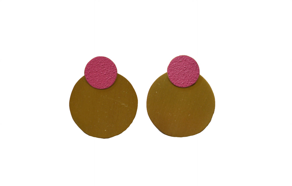 LIS Exclusive Coloured Round Statement Earrings