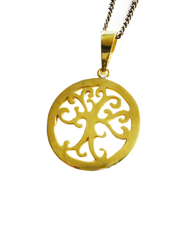 Upcycled Bullet Case Tree of Life Necklace