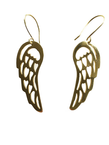 Upcycled Bullet Case Wing Earrings