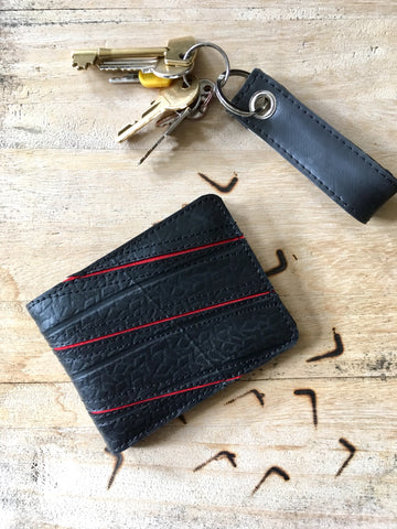 Upcycled Tyre 3 Lines Wallet