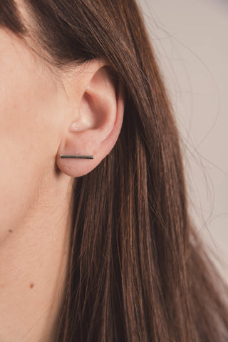 Climber Earrings- Silver Bars