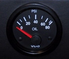 VDO Vision Gauge with Black Bezel